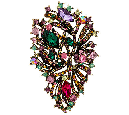 Joan Rivers Crystal Jubilee Brooch
