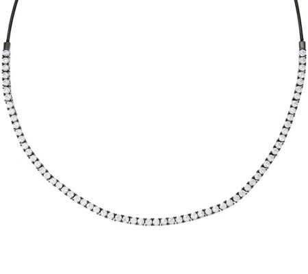 Diamonique Tennis Necklace, Sterling