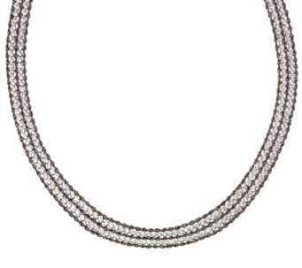 """As Is"" Vicenza Silver Sterling 20"" Diamonique & Rope Necklace - J326882"