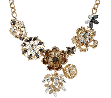 Susan Graver Floral Statement Necklace