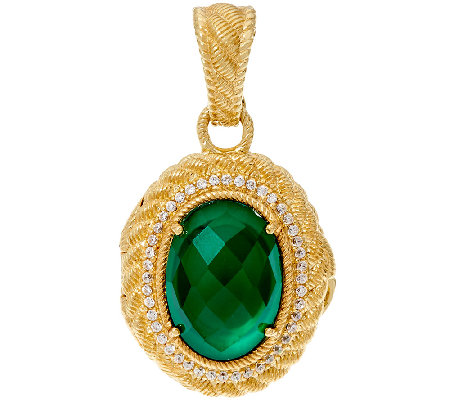 Judith Ripka 14K Clad Green Goddess Locket Enhancer