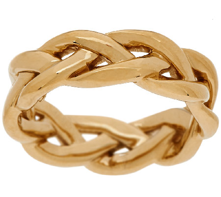 """As Is"" 14K Gold Polished Braided Band Ring"