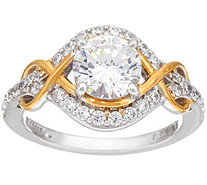 Diamonique Two Tone Infinity Bridal Ring, Sterling - J330582