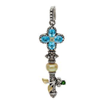 Barbara Bixby Sterling Silver & 18K Gold Gemstone Key Enhancer