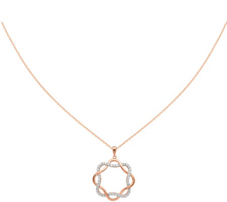 Intertwined Diamond Pendant w/Chain, 14K, 1/5 cttw by Affinity