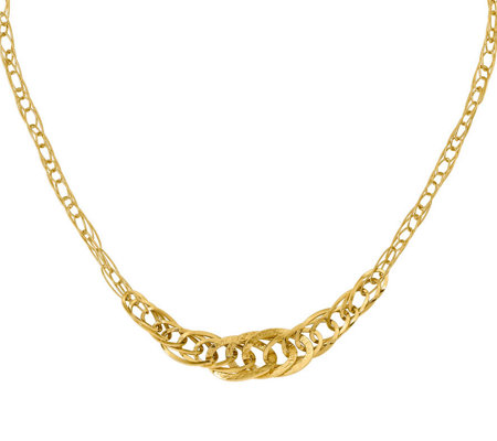 Italian Gold Graduated Loose Rope Necklace 14K,8.9g