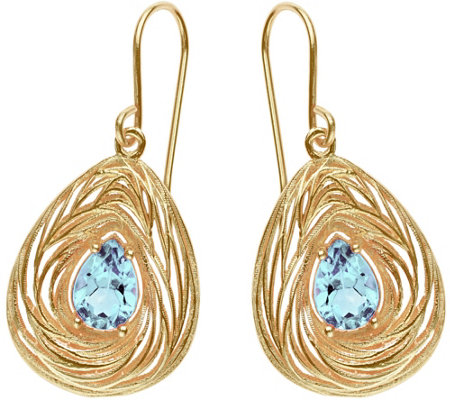 Adi Paz Pear-Shaped Dangle Earrings, 14K