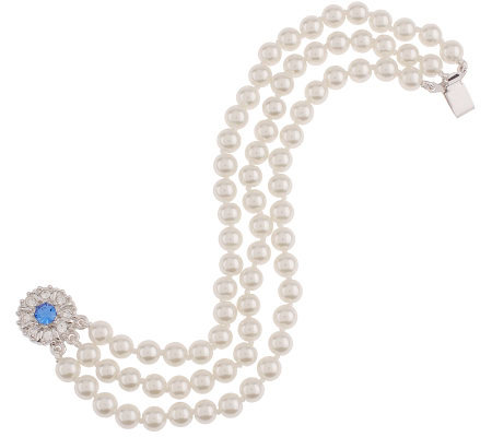 Jacqueline Kennedy Simulated Pearl Three Strand Bracelet