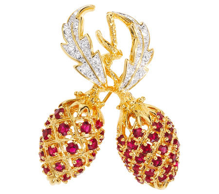 Jacqueline Kennedy Dual Berry Pin
