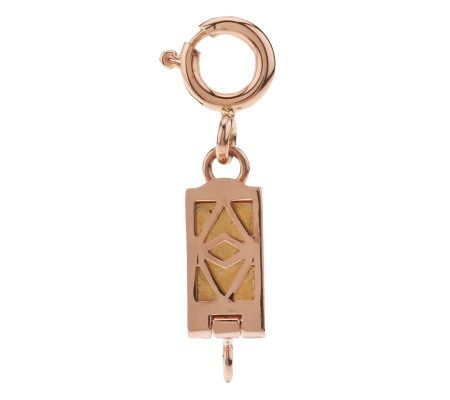 Click Secure SelfLocking Rectangle Magnetic Clasp 14K Rose Gold