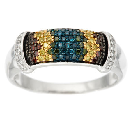 Rainbow Bar Diamond Ring, Sterling, 1/3 cttw, by Affinity