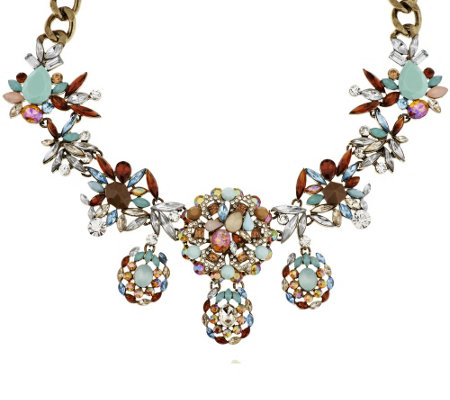 "Joan Rivers Crystal Melange 18"" Statement Necklace with 3"" Extender"