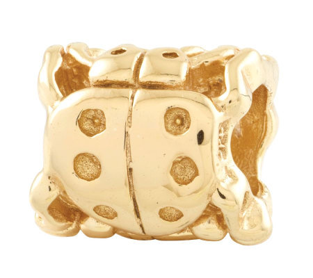 Prerogatives 14K Yellow Gold-Plated Sterling Ladybug Bead
