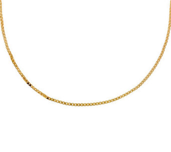 "Veronese 18K Clad 24"" Polished Box Chain - J304683"