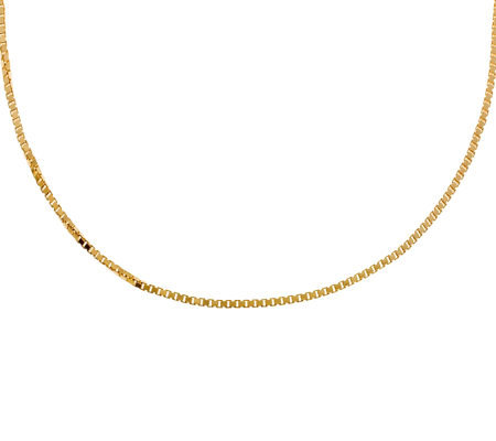 "Veronese 18K Clad 24"" Polished Box Chain"