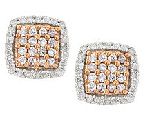 Natural Pink Diamond Earring 14K Gold, 1/2 cttw, by Affinity - J317083