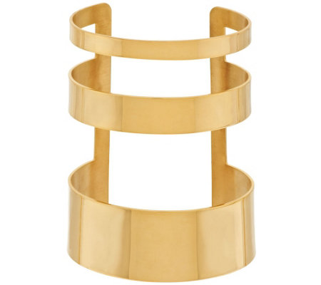 Bronze Bold Polished Multi-Row Cuff Bracelet by Bronzo Italia