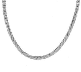 """As Is"" UltraFine Silver 18"" Coreana Necklace - J318583"