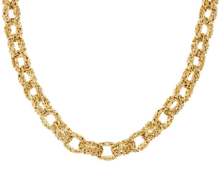 "14K Gold 18"" Bold Polished Byzantine Rolo Link Necklace, 36.0g"