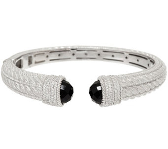Judith Ripka Sterling Gemstone & Diamonique Cuff - J323183