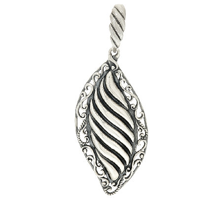 Carolyn Pollack Sterling Silver Signature Scroll & Ribbed Enhancer