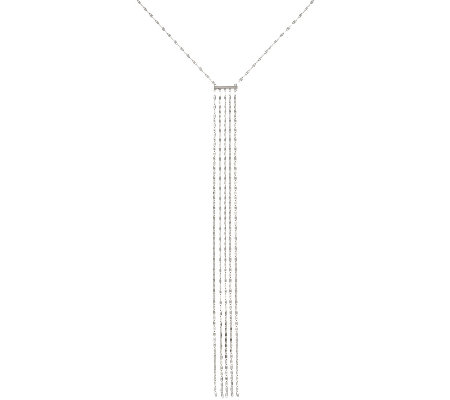 Vicenza Silver Sterling Polished Fringe Necklace