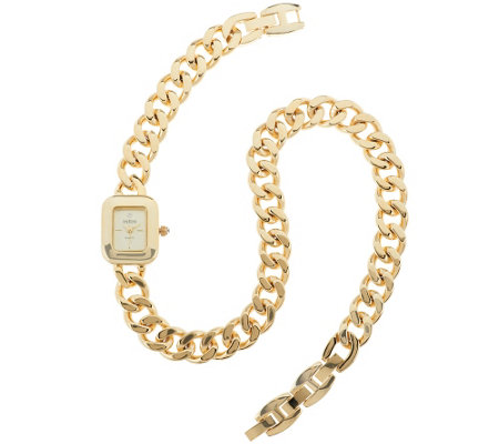 """As Is"" Joan Rivers Double Wrap Curb Link Watch"