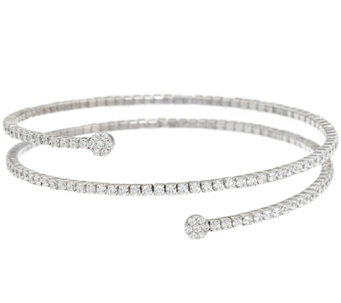 Diamonique Flexible Wrap Bracelet, Sterling - J328283