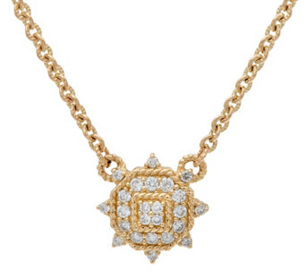 Judith Ripka 14K Gold 1/3 cttw Diamond Necklace - J328683