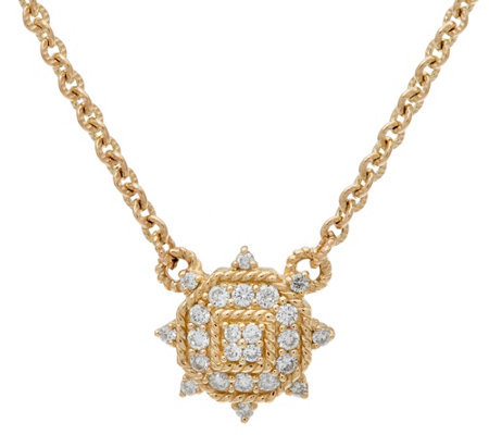 Judith Ripka 14K Gold 1/3 cttw Diamond Necklace