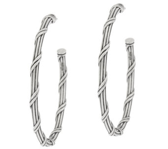 "Peter Thomas Roth Sterling Signature Classic 1-1/2"" Hoop Earrings - J328883"