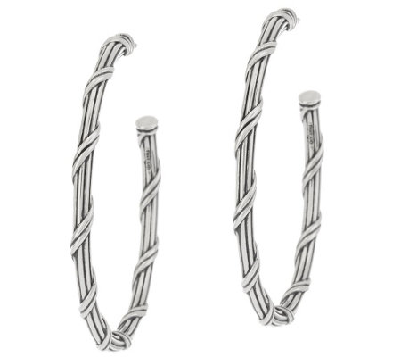 "Peter Thomas Roth Sterling Signature Classic 1-1/2"" Hoop Earrings"