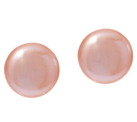 Honora Cultured Pearl 10.0mm Coin Sterling Stud Earrings