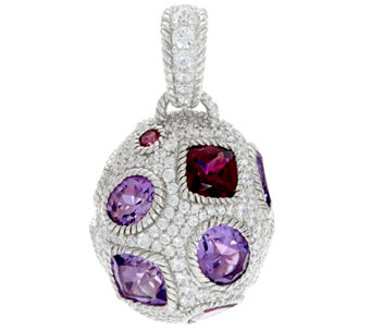 Judith Ripka Sterling 12.35 cttw Gemstone Egg Enhancer - J331583