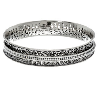 Sterling Silver Textured Spinner Bangle 32.0g by Or Paz - J333183