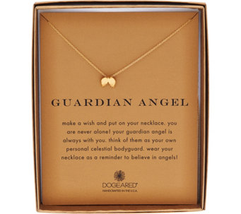 "Dogeared 14K Gold Plated Reminder Pendant with 18"" Chain - J333783"