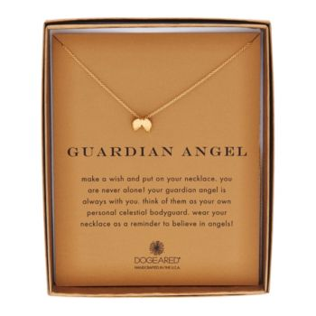 Dogeared 14K Gold Plated Reminder Pendant with 18 Chain