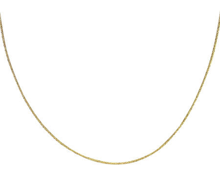 "EternaGold 24"" 015 Singapore Chain Necklace, 14K Gold, 1.3g"