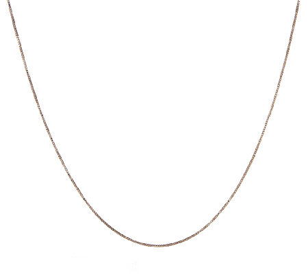 "18"" Box Chocolate Gold Necklace, 14K, 1.8g"