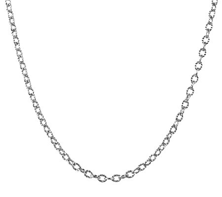 "Sterling 15"" Curb Link Chain Necklace, by American West"