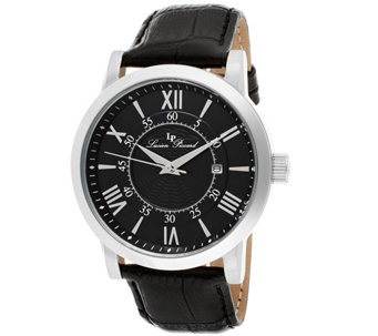 Lucien Piccard Stockhorn Men's Black Leather Watch - J339083