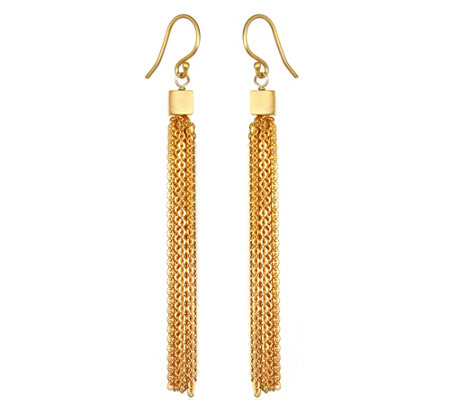 "Satya Multi-Chain Dangle 3"" Earrings"
