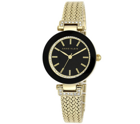 Anne Klein Women's Goldtone Mesh Bracelet Watch
