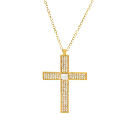 """As Is"" Linea by Louis Dell' Olio Double Sided Cross Pendant"