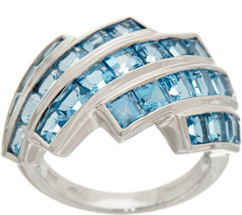 square cut semi precious gemstone sterling ring 200 cttw j348283 - Qvc Wedding Rings
