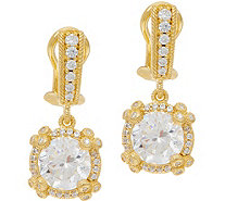 Judith Ripka 14K Clad 4.70 cttw Diamonique Drop Earrings - J350483
