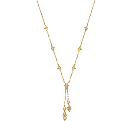 Judith Ripka 14K Clad 9/10 cttw Diamonique Y Necklace