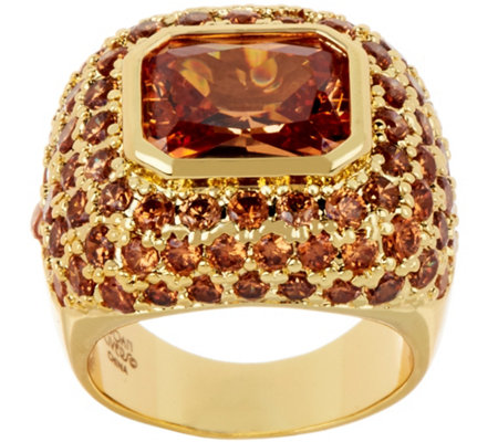 """As Is"" Joan Rivers Private Collection Shimmering Champagne Ring"