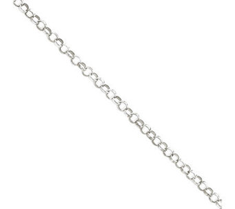 Sterling 2mm Rolo Chain Anklet - J111384