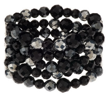 Linea by Louis Dell'Olio Faceted Bead StretchBracelet - J273584